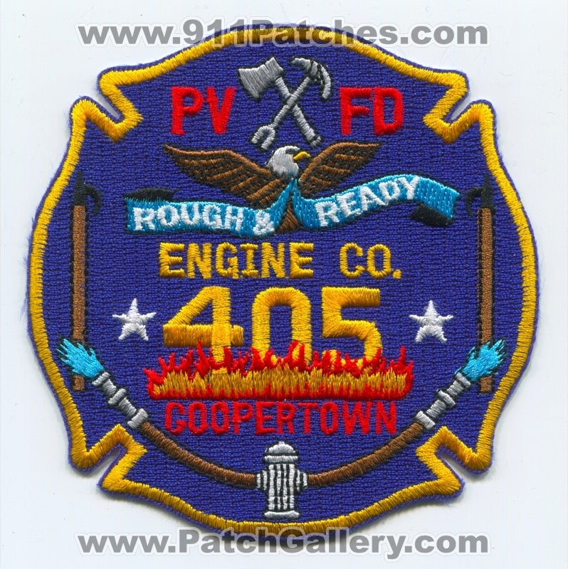 PVFD Fire Department Engine Company 405 Coopertown Patch Unknown State