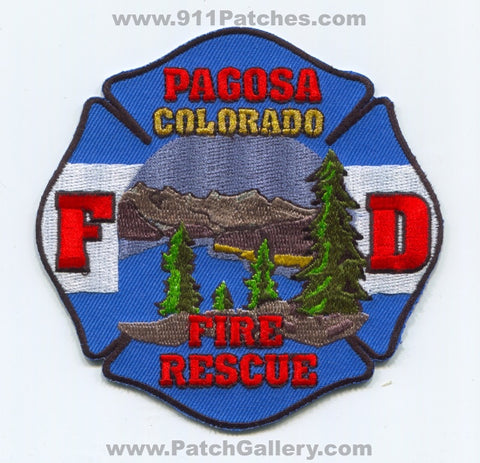 Pagosa Fire Rescue Department Patch Colorado CO