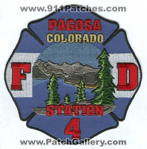 Pagosa Fire Department Station 4 Patch Colorado CO