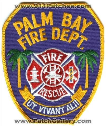 Palm Bay Fire Rescue Department Patch Florida FL