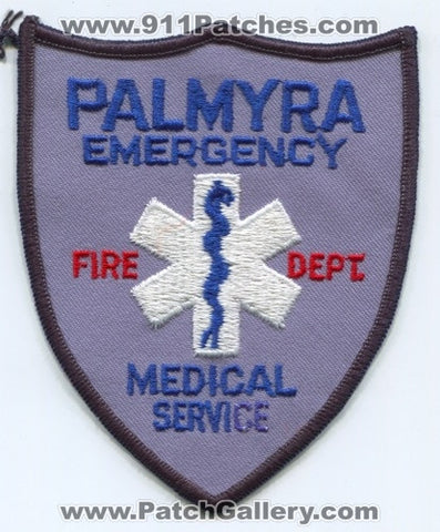 Palmyra Fire Department Emergency Medical Services EMS Patch Missouri MO