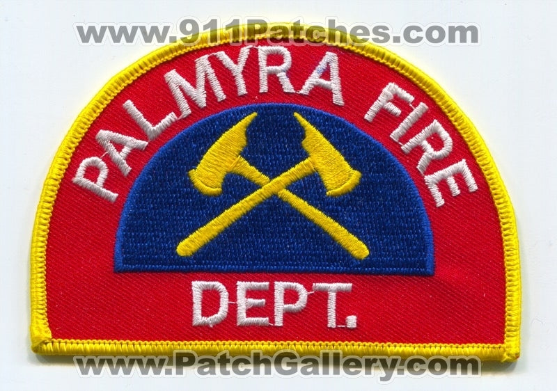 Palmyra Fire Department Patch Pennsylvania PA