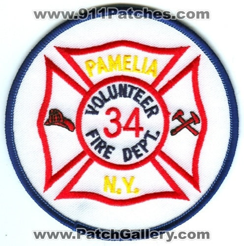 Pamelia Volunteer Fire Department 34 Patch New York NY