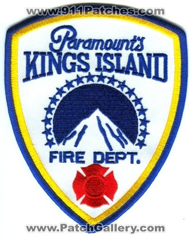 Paramounts Kings Island Amusement Waterpark Fire Department Ohio OH