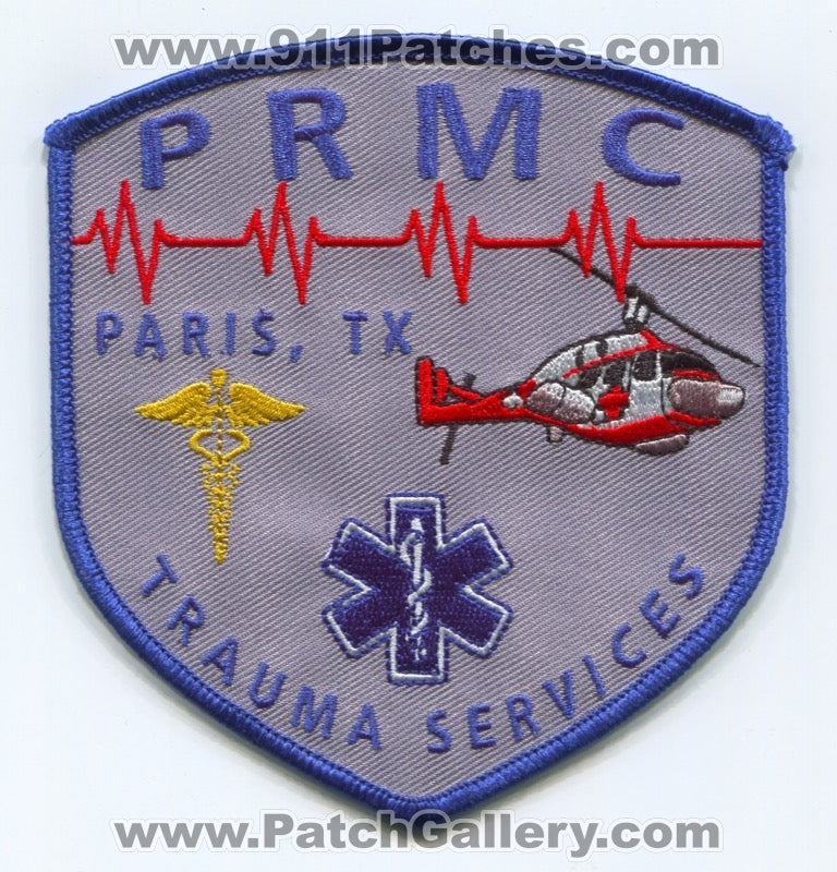 Paris Regional Medical Center Trauma Services EMS Patch Texas TX