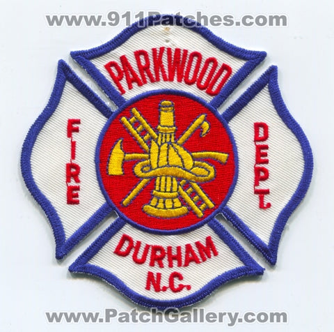 Parkwood Fire Department Durham Patch North Carolina NC