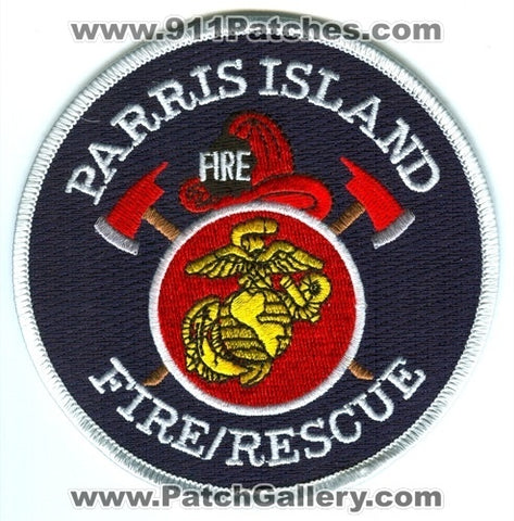 Parris Island Fire Rescue Department USMC Military Patch South Carolina SC