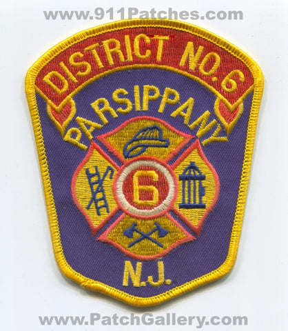 Parsippany Fire District Number 6 Patch New Jersey NJ