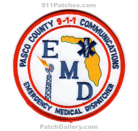 Pasco County 911 Communications EMD Fire EMS Patch Florida FL