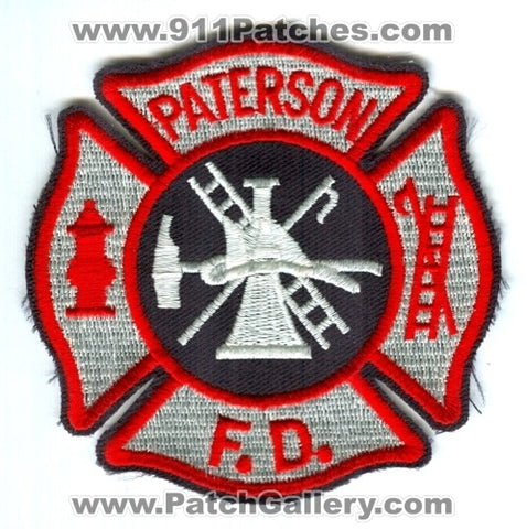 Paterson Fire Department Patch New Jersey NJ