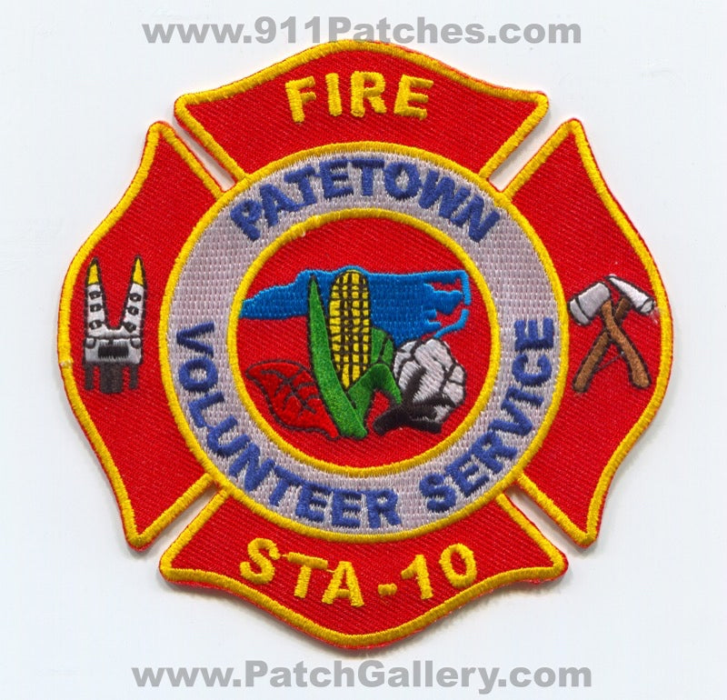 Patetown Volunteer Fire Department Station 10 Patch North Carolina NC
