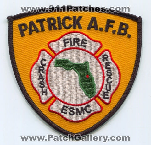 Patrick Air Force Base AFB Fire Department ESMC Crash Rescue USAF Military Patch Florida FL