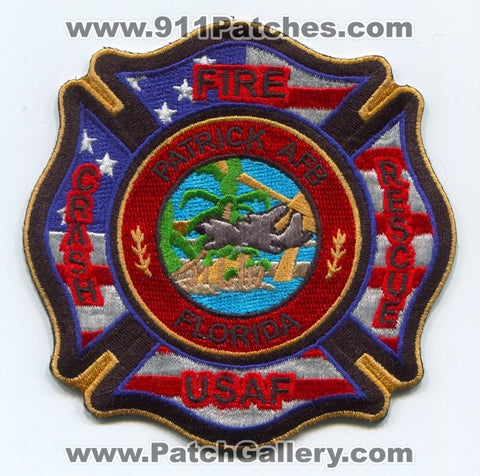 Patrick Air Force Base AFB Crash Fire Rescue Department USAF Military Patch Florida FL