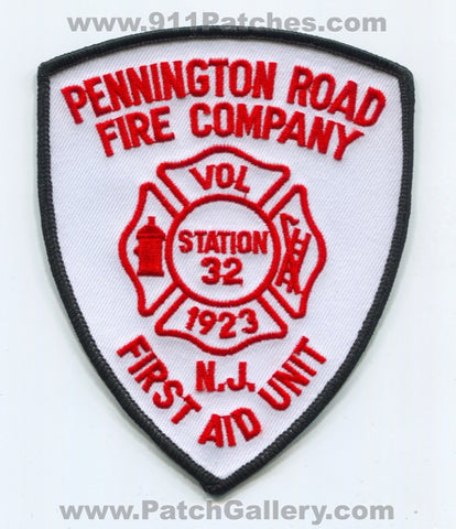 Pennington Road Fire Company First Aid Unit Station 32 Patch New Jersey NJ