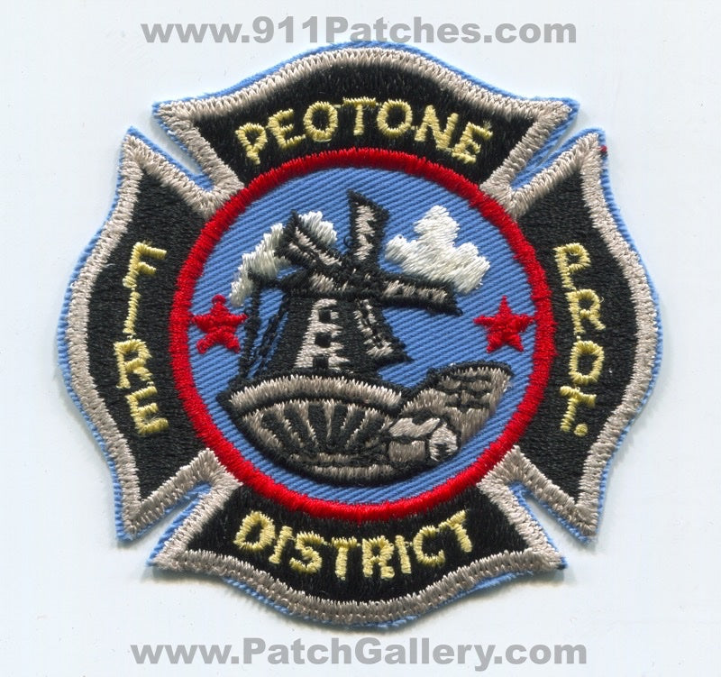 Peotone Fire Protection District Patch Illinois IL