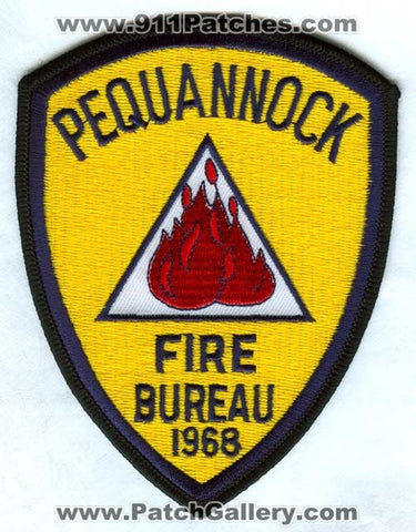 Pequannock Fire Department Bureau Patch New Jersey NJ