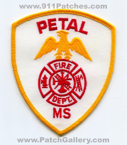 Petal Fire Department Patch Mississippi MS