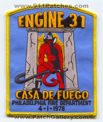 Philadelphia Fire Department Engine 31 Patch Pennsylvania PA