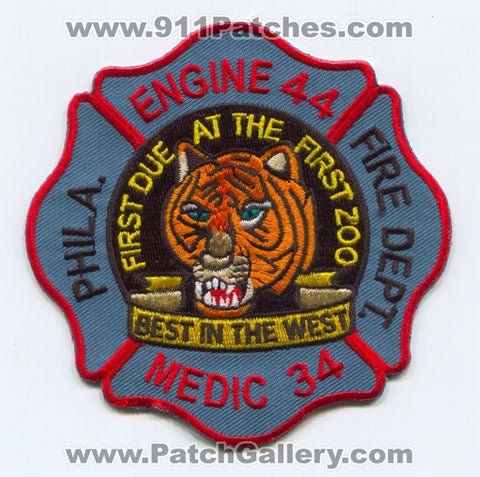 Philadelphia Fire Department Engine 44 Medic 34 Patch Pennsylvania PA