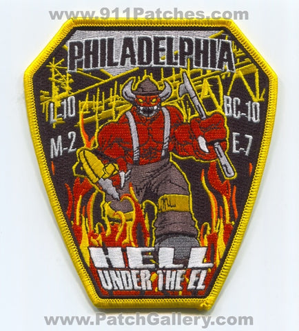 Philadelphia Fire Department Engine 7 Ladder 10 Medic 2 Patch Pennsylvania PA