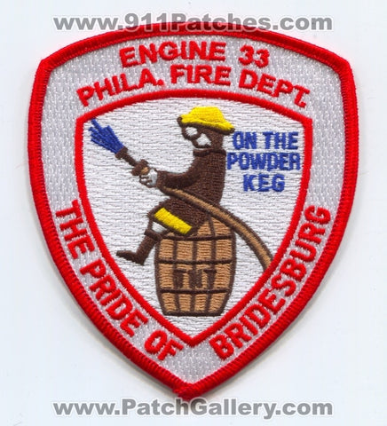 Philadelphia Fire Department Engine 33 Patch Pennsylvania PA