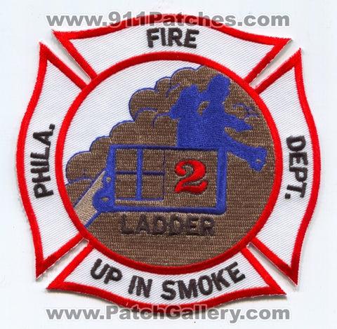 Philadelphia Fire Department Ladder 2 Patch Pennsylvania PA