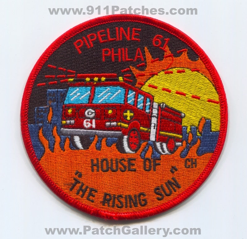 Philadelphia Fire Department Pipeline 61 Patch Pennsylvania PA