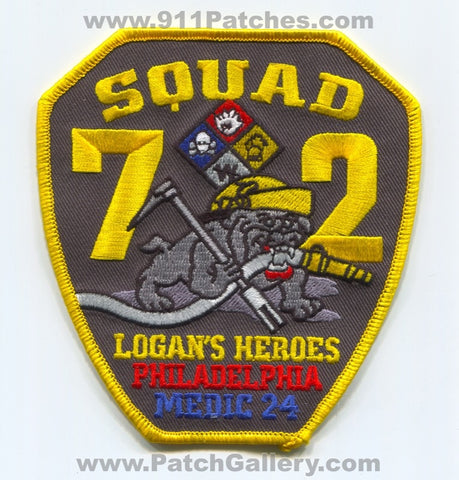 Philadelphia Fire Department Squad 72 Medic 24 Patch Pennsylvania PA