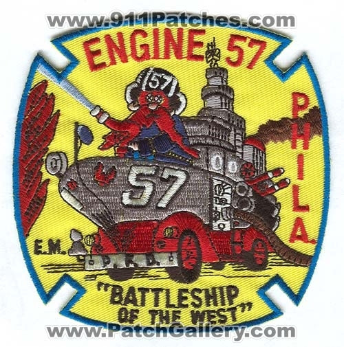 Philadelphia Fire Department Engine 57 Patch Pennsylvania PA