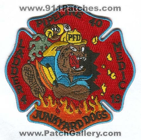 Philadelphia Fire Department Pipeline 40 Ladder 4 Medic 19 Patch Pennsylvania PA