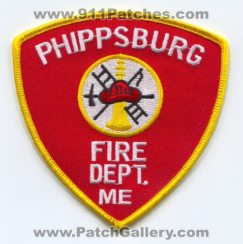 Phippsburg Fire Department Patch Maine ME