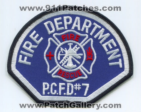 Pierce County Fire District Number 7 Rescue Department EMS Patch Washington WA