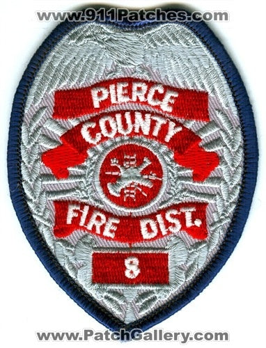 Pierce County Fire District 8 Patch Washington WA