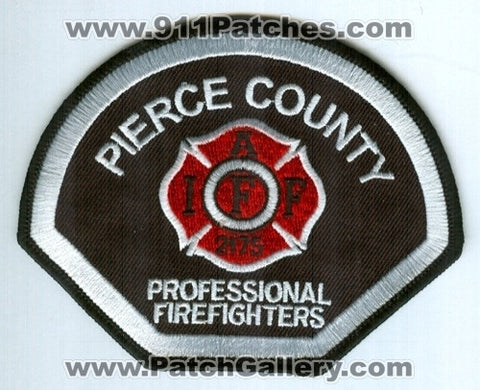Pierce County Professional FireFighters IAFF Local 2175 Fire Patch Washington WA