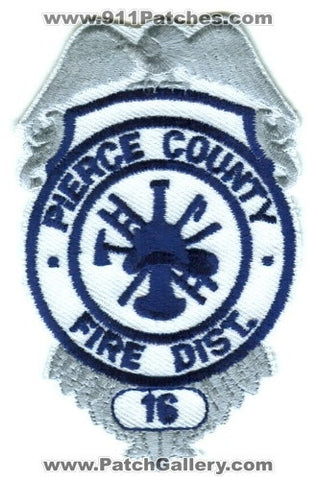 Pierce County Fire District 16 Patch Washington WA