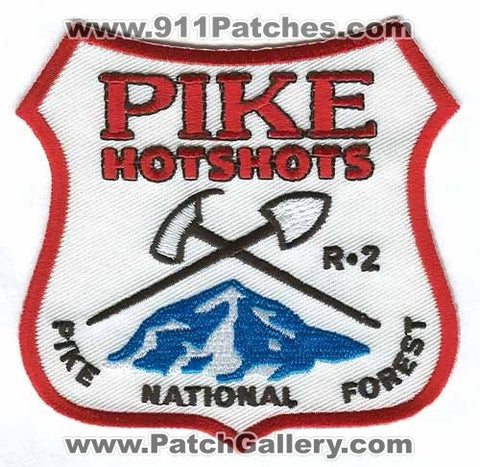 Pike National Forest HotShots Region 2 Forest Fire Wildfire Wildland Patch Colorado CO