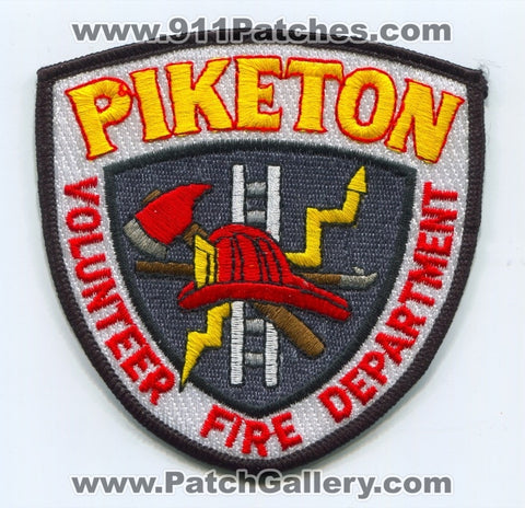 Piketon Volunteer Fire Department Patch Ohio OH