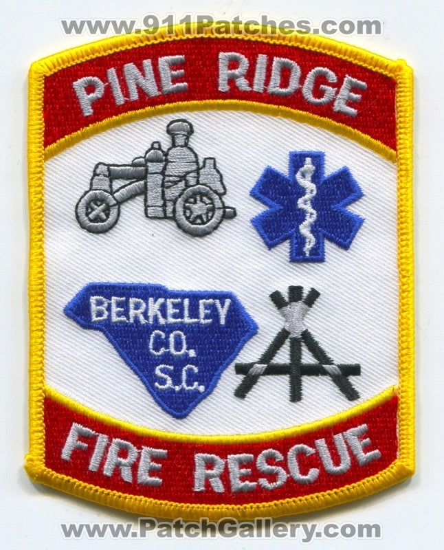 Pine Ridge Fire Rescue Department Patch South Carolina SC