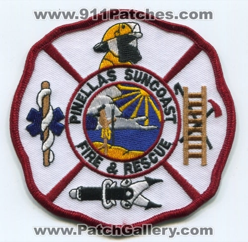 Pinellas Suncoast Fire and Rescue Department Patch Florida FL