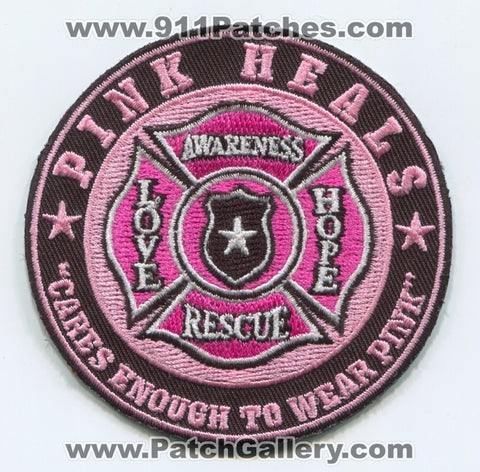 Pink Heals Inc Pink Fire Trucks Patch No State Affiliation