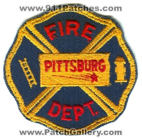 Pittsburg Fire Department Patch Kansas KS
