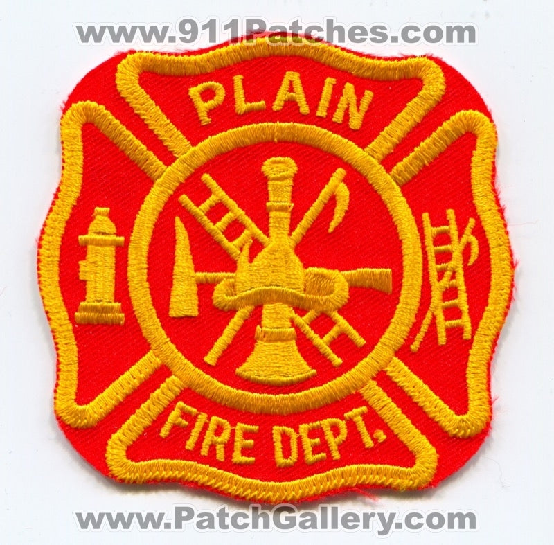 Plain Fire Department Patch Unknown State