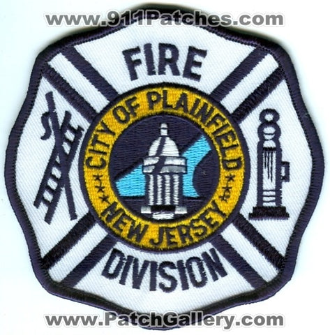 Plainfield Fire Division Patch New Jersey NJ
