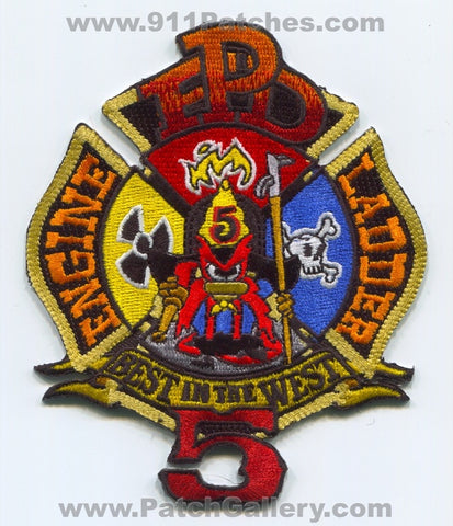 Plano Fire Department Station 5 Engine Ladder Patch Texas TX