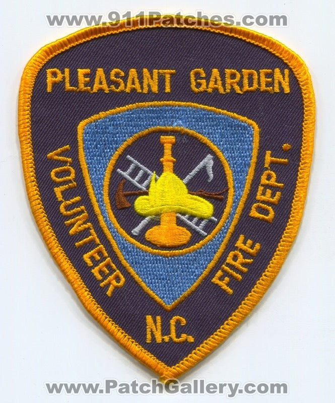 Pleasant Garden Volunteer Fire Department Patch North Carolina NC