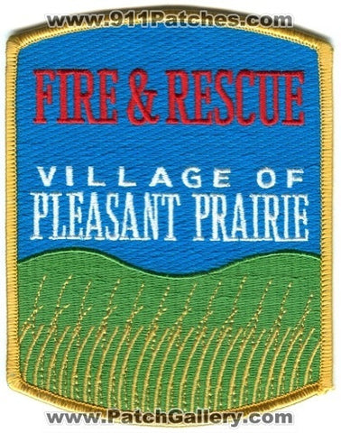 Pleasant Prairie Fire and Rescue Department Patch Wisconsin WI