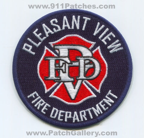 Pleasant View Fire Department Patch Colorado CO