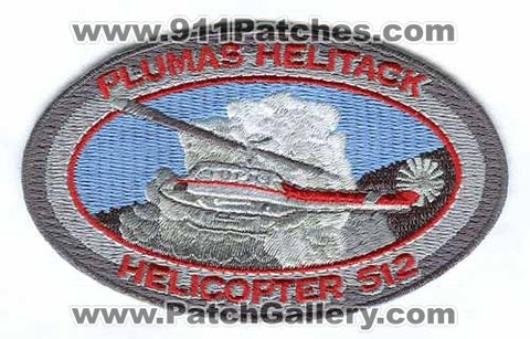 Plumas Helitack Helicopter 512 Forest Fire Wildfire Wildland Patch California CA