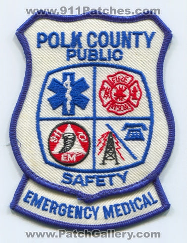 Polk County Public Safety Emergency Medical Services EMS Patch Florida FL