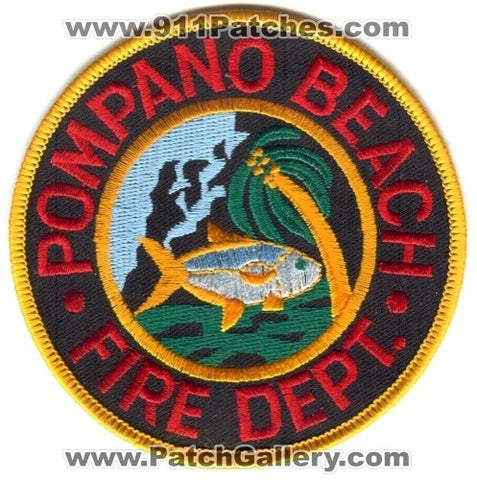 Pompano Beach Fire Department Patch Florida FL